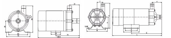 """MP型磁力驱动循环泵结构图: 磁力驱动循环泵运转是在连轴上和叶轮上分别装配有磁性材料而互相吸引偶合,无需配以传统机械轴封,因而是完全密封的。电动机转动扭力是通过主动磁及及从动磁的引力带动叶片工作运转。现今惯用的磁力驱动泵极大的缺点是在缺液情况下绝对严禁运转否则整机将毁坏,给使用者增添不必要的麻烦和烦恼。""""上海光正""""的磁力驱动泵则不必为此担心。它采选了一种特别设计的特配方陶瓷作轴承,具有极强的耐磨性和抗腐蚀性,使其先进性能和质量安全得以绝对的保证。 磁力驱动循环泵概用无轴封设计,完全避免了传统机械轴封泵"""